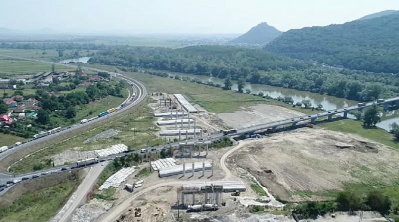 Imagini din dronă – Pasaj nod rutier Șoimuș, Lot 4 Lugoj-Deva