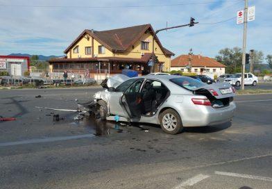 ACCIDENT rutier la Sântuhalm: un COPIL ÎNCARCERAT