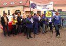Protest în fața Prefecturii Hunedoara