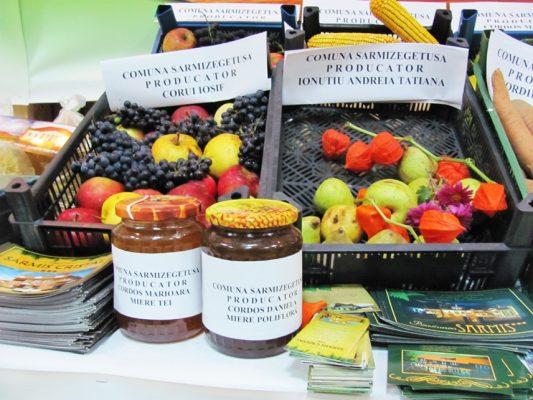 Producătorii au adus la târg fructe din roadele livezilor.