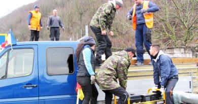Motociclişti inimoşi din tot judeţul au venit la muncă, pentru un om necăjit, chiar de Ziua Naţională a României.