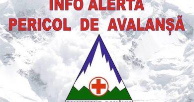 Salvamont România: Riscul producerii de avalanşe la altitudini mai mari de 1.800 de metri este mare şi se va menţine la acest nivel