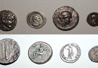 Patru monede antice recuperate de polițiștii hunedoreni
