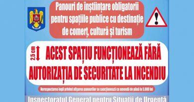 IGSU Hunedoara: Se impune afișarea panourilor de înștiințare în locațiile neautorizate