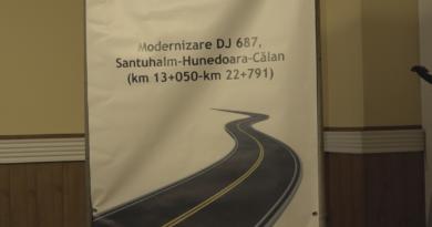 Se modernizează DJ687, Sântuhalm – Călan