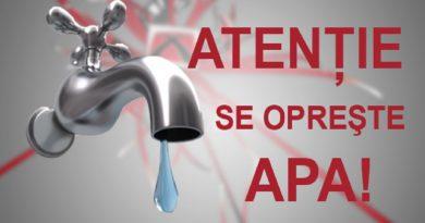 Sistare apă potabilă în localitățile: Streisângiorgiu și Ohaba Streiului