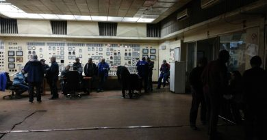 Protest spontan la termocentrala Mintia