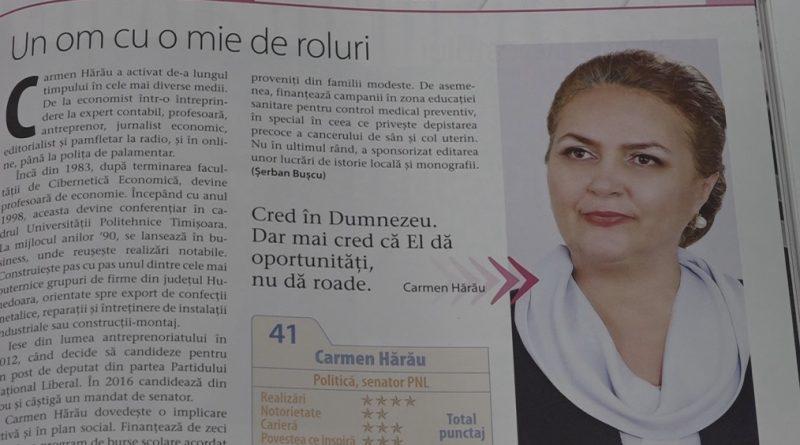 CARMEN HĂRĂU, ÎN TOP 100 FEMEI DE SUCCES DIN ROMÂNIA