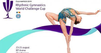 """Peste 125 de sportive, din 23 de ţări, la """"World Challenge Cup"""" la gimnastică ritmică, de la Cluj-Napoca"""