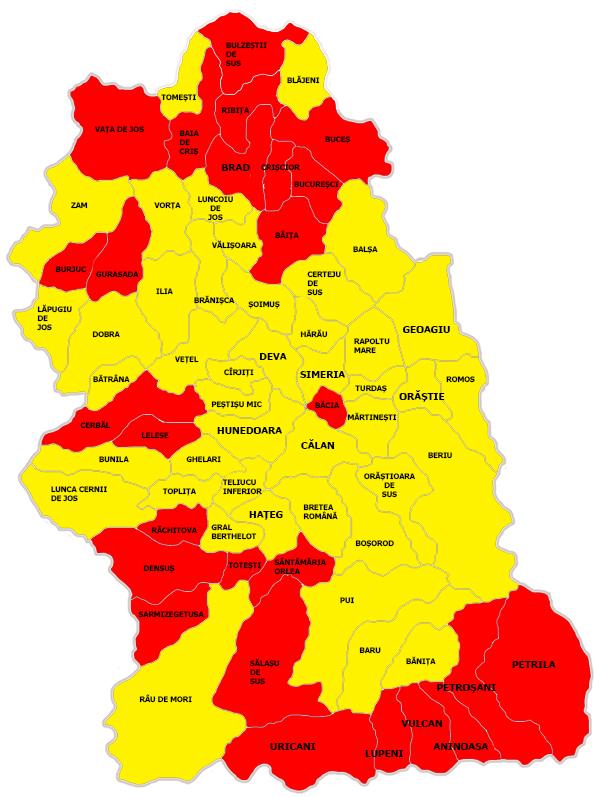 Harta Rezultatelor Turul I Prezidentiale Judetul Hunedoara Stiri