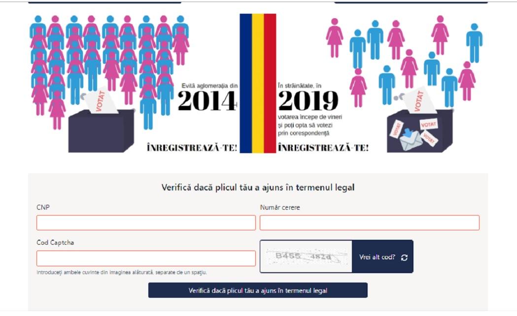 Românii care au votat prin corespondenţă pot verifica dacă plicul lor a ajuns în timp util în ţară