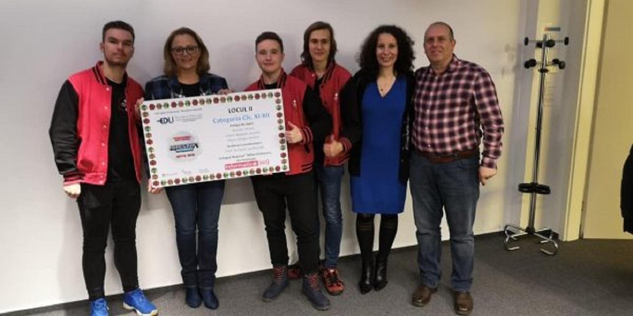 """Elevi din Petroșani, pe podium la competiția """"Minecraft pentru Educație"""""""