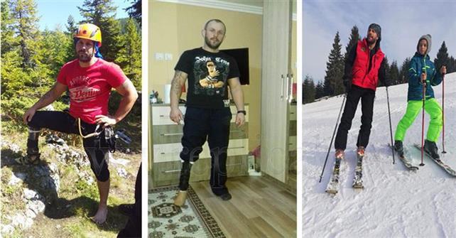 Povestea salvamontistului care străbate muntele cu o proteză în locul piciorului