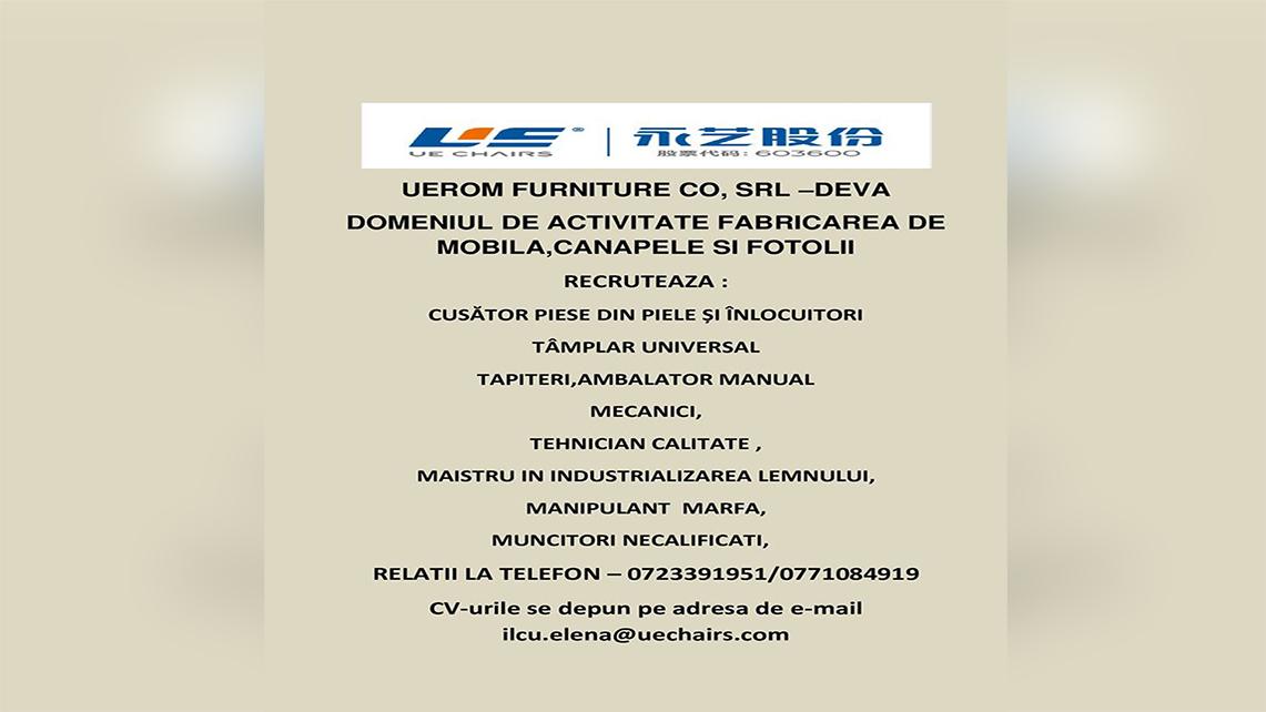 COMPANIE CHINEZĂ RECRUTEAZĂ FORȚĂ DE MUNCĂ LA DEVA