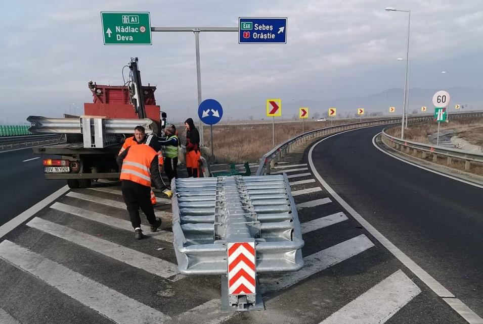 Măsuri de siguranță pentru șoferii care circulă pe autostrada A1