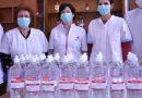 Spitalele și unitățile militare primesc dezinfectant
