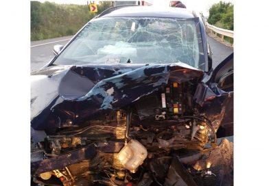 Accident rutier pe DN66. Șapte victime au fost transportate la spital, după o coliziune între două autoturisme