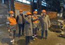 """Prefectul Călin Petru Marian a vizitat astăzi """"ArcelorMittal"""" S.A, la invitația echipei de conducere a companiei"""