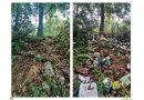 Zonă protejată, năpădită de materiale de construcții și alte deșeuri